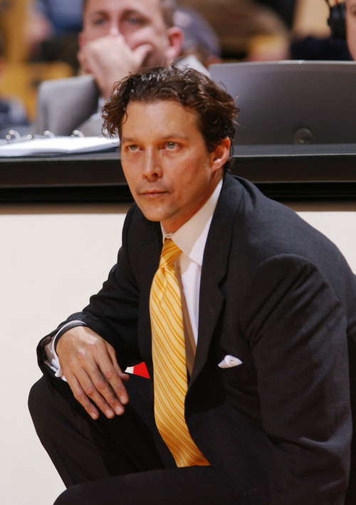 Missouri head coach Quin Snyder watches his team beat Texas A&M Corpus Christi, 82-81 Saturday, Dec. 10, 2005 during the second half in Columbia, Mo. (AP Photo/L.G. Patterson)
