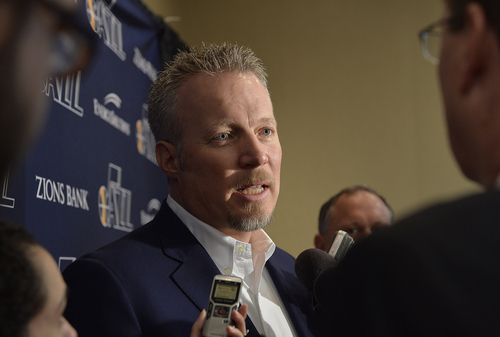 Scott Sommerdorf   |  The Salt Lake Tribune Jazz CEO Greg Miller answers questions about the hiring of Quin Snyder. The Utah Jazz introduced Quin Snyder as their new head coach, Saturday, June 7, 2014.
