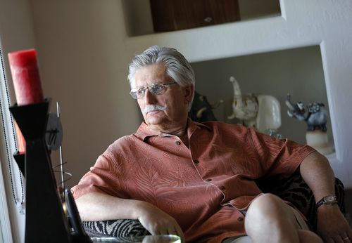 FOR USE SUNDAY, JUNE 8, 2014, AND THEREAFTER - This May 20, 2014 photo shows Fred Goldman, father of murder victim Ronald Goldman, in his home in Peoria, Ariz. Goldman has not rested since a jury acquitted O.J. Simpson in the murder case 20 years ago. Goldman and the family of Simpson's slain ex-wife took the former football hero to civil court, got a $33.5 million judgment and Goldman then seized anything that could help pay that award. (AP Photo/Matt York)