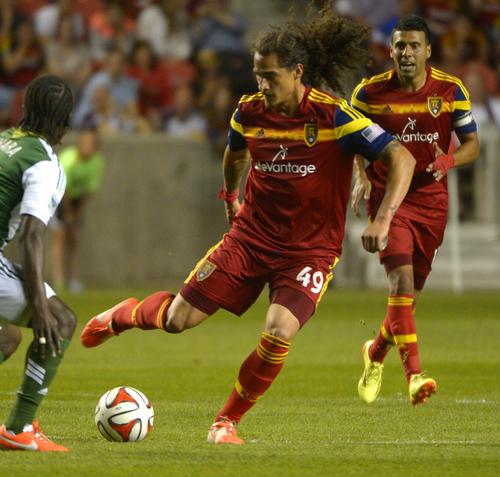 Rick Egan  |  The Salt Lake Tribune  Real Salt Lake forward Devon Sandoval (49), in MLS soccer action at Rio Tinto stadium, Saturday, June 7, 2014