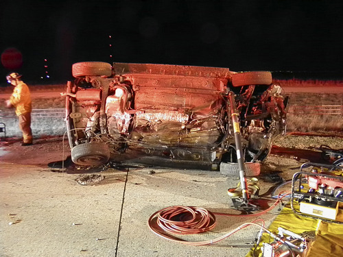 Two men died in this crash on I-80 early Monday morning. (UHP photo)