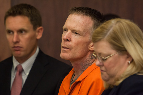 Troy James Knapp listens as he is addressed by Judge Eric A. Ludlow during a sentencing hearing at the Fifth District Court in St. George, Utah on Monday, June 9, 2014. Trevor Christensen / The Spectrum & Daily News