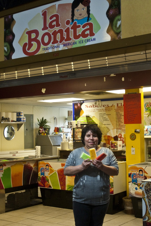 Chris Detrick | The Salt Lake Tribune  Lilia Chavez poses for a portrait at her store La Bonita at the Latino Mall at 2470 S. Redwood Road on Friday, March 18, 2011.