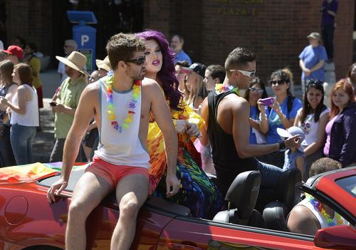 Scott Sommerdorf   |  The Salt Lake Tribune The Salt Lake City Pride Parade, Sunday, June 7, 2014.