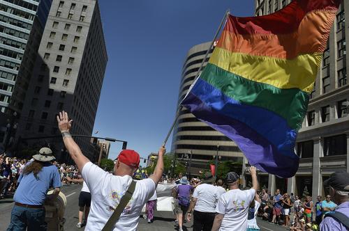 Scott Sommerdorf      The Salt Lake Tribune The Salt Lake City Pride Parade, Sunday, June 7, 2014.