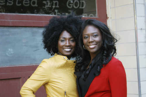 "( Courtesy Mama Rine Clark)  Tamu Smith (left) and Zandra Vranes (right) are ""Sistas in Zion"" and have written a new book, Diary of Two Mad Black Mormons"