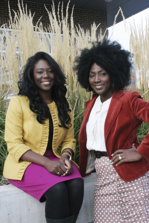 "(Courtesy Mama Rine Clark)  Tamu Smith (right) and Zandra Vranes (left) are ""Sistas in Zion"" and have written a new book, Diary of Two Mad Black Mormons"