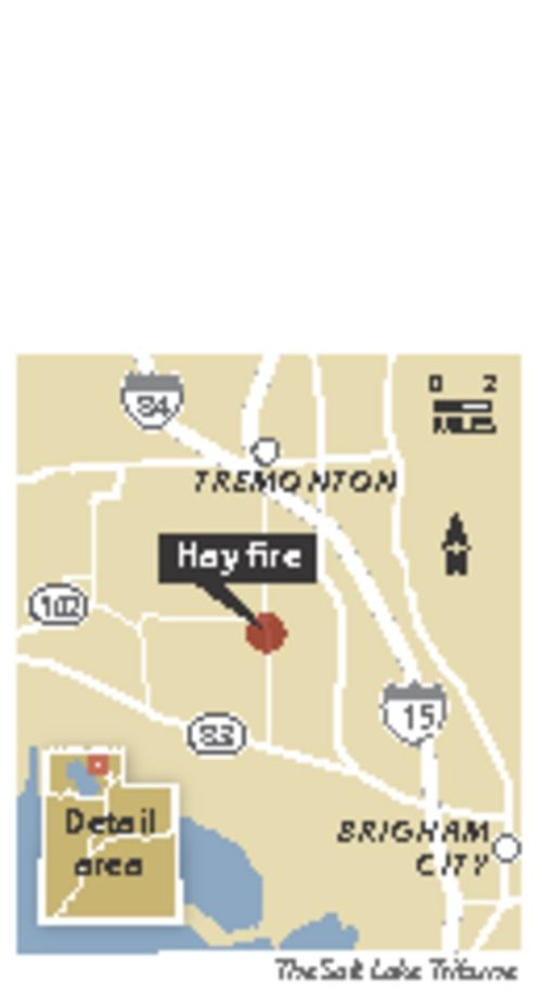 Hay fire burning in northern Utah Firefighters in northern Utah are working to contain an explosive fire at the Bailey Farms facility, a hay compression and cubing plant.