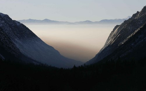 The view of the Salt Lake Valley from Little Cottonwood Canyon. Rick Egan, The Salt Lake Tribune