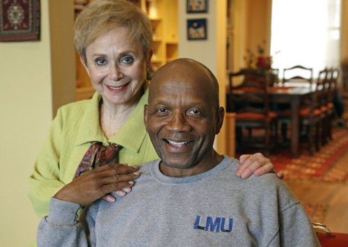 "In this April 4, 2014 photo, Aviva Futorian and Roy DeBerry sit in Futorian's Chicago apartment. They have been friends since they met 50 years ago during ""Freedom Summer."" Although fewer than one-tenth of the 17,000 black residents who attempted to registered to vote during the freedom summer succeeded, the effort helped create momentum for the Voting Rights Act of 1965. (AP Photo/M. Spencer Green)"