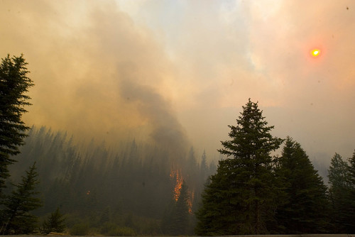 The sun is obscured by smoke from the Seeley Fire on Wednesday, June 27, 2012, burning in the Manti-La Sal National Forest. (AP Photo/Paul Fraughton, The Salt Lake Tribune)