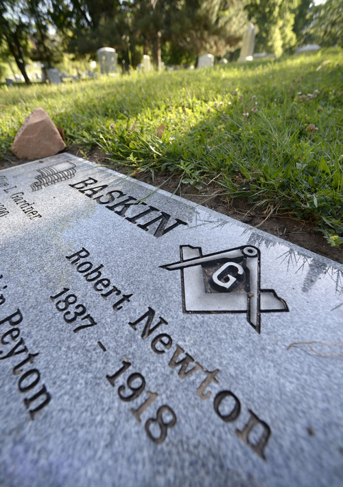 Al Hartmann  |  The Salt Lake Tribune Recently, a group of Utahns purchased a grave marker for Robert Newton Baskin, who was buried at Mt. Olivet Cemetery in 1918. Baskin was a leader of  non-Mormons in Utah in the late 1800s and was elected Salt Lake City mayor.