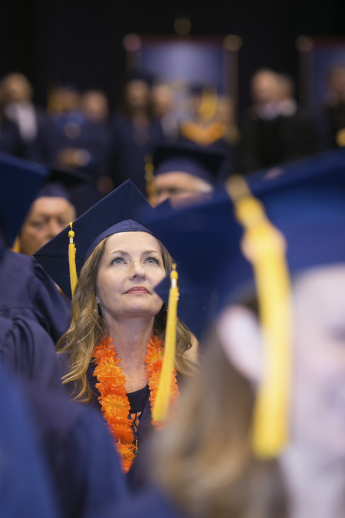 | Courtesy Western Governors University  Western Governors University students attend commencement ceremonies in Salt Lake City in 2013. The online university's undergraduate secondary teacher education program has been ranked No. 1 in the country by the National Council on Teacher Quality.