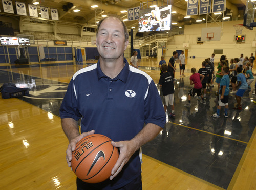 Al Hartmann  |  The Salt Lake Tribune BYU women's basketball coach Jeff Judkins has taken the road less traveled in his coaching career. This Summer he is running youth bakstbll camps at BYU.