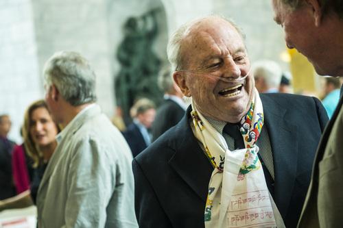 "Chris Detrick  |  The Salt Lake Tribune Snowbird Ski & Summer Resort co-founder Dick Bass is honored at the State Capitol Wednesday June 18, 2014. Gov. Gary Herbert declared June 18 as ""Dick Bass Day"" in Utah."