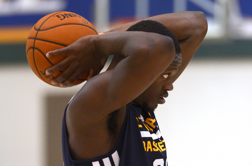 Leah Hogsten  |  The Salt Lake Tribune University of Kentucky forward Julius Randle, 19, works out at the Utah Jazz facility, Wednesday, June 18, 2014.