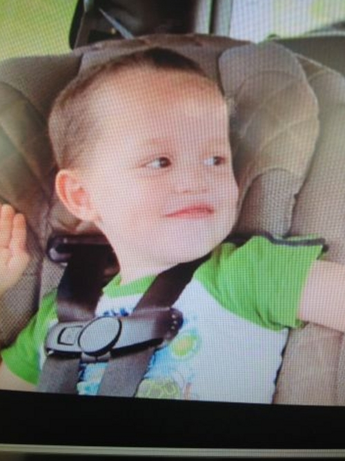 Courtesy of Salt lake City Police Department  Kelby, a missing 3-year-old boy, last seen at around 3:15 pm June 18 near 2500 S, Fillmore Street (1540 East).