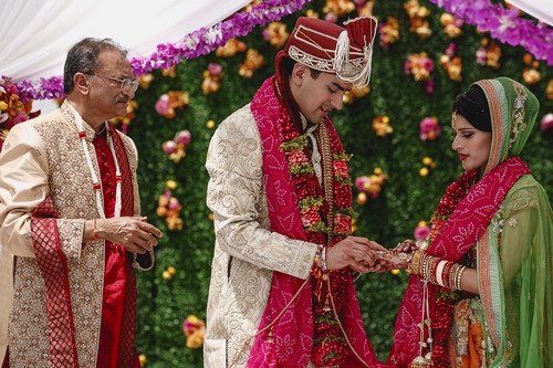 Courtesy of  Nadia D Photography The fairy tale wedding of Avni Patel and Abhishek Dhingra in Salt Lake City lasted three days, culminating in a traditional Hindu wedding ceremony at the Grand America Hotel on Saturday.