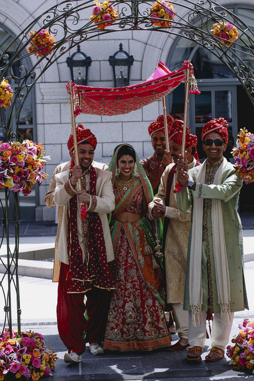 Courtesy  |  Nadia D Photography The fairy tale wedding of Avni Patel and Abhishek Dhingra in Salt Lake City lasted three days, culminating in a traditional Hindu wedding ceremony at the Grand America Hotel on Saturday, June 21, 2014.