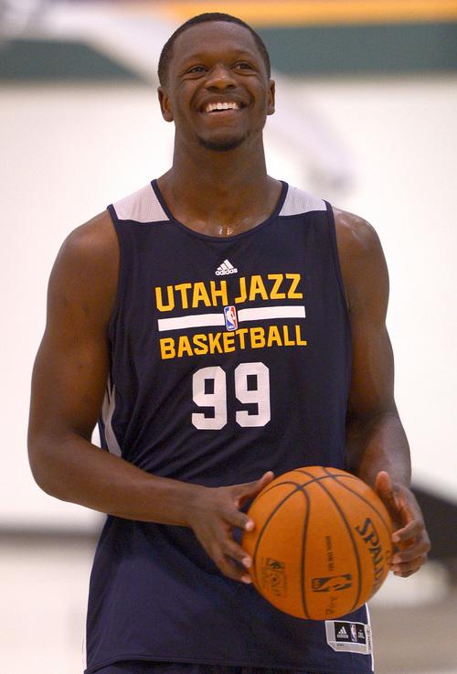 Leah Hogsten  |  The Salt Lake Tribune University of Kentucky forward Julius Randle, 19, works out at the Utah Jazz facility, Wednesday, June 18, 2014.