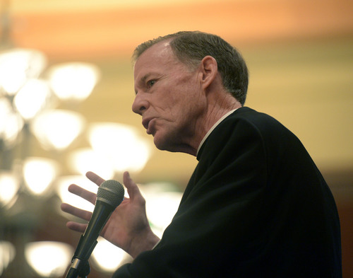 Al Hartmann  |  Tribune file photo The Most Reverend, Bishop of Salt Lake City John C. Wester speaks at the annual Dream Builder's Breakfast in Ogden.