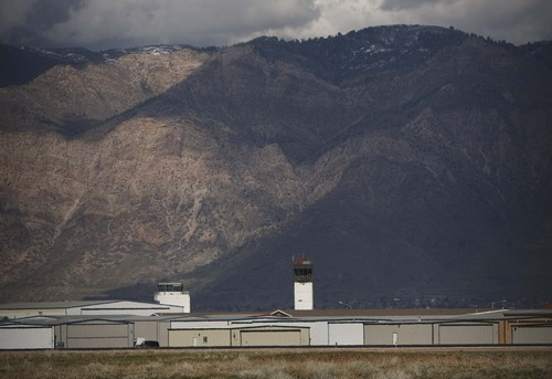 Tribune file photo by Leah Hogsten  |  The Ogden-Hinckley Airport quadrupled the number of passengers it handled in 2013 after Allegiant Air began flying routes there.