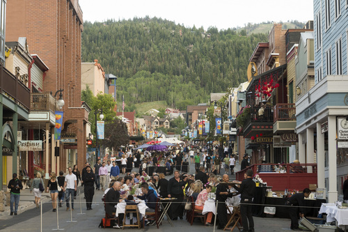 Diners Savor The Summit In The Middle Of Park City Main