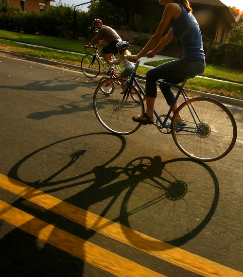 "Tribune file photo  Salt Lake City has proposed turning 600 East from South Temple to 2700 South into a ""Bike Boulevard."""
