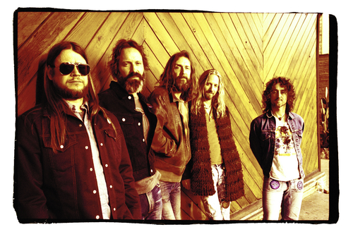 Chris Robinson Brotherhood, a psychedelic/vintage rock band founded by Black Crowes frontman Chris Robinson (center), is one of the headlining acts at the 2014 Utah Arts Festival, running June 26-29 at Library Square, Salt Lake City. Courtesy Utah Arts Festival
