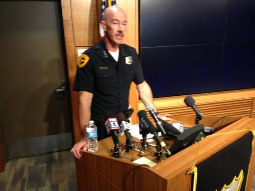 Jeremy Harmon     The Salt Lake Tribune Chris Burbank, the Salt Lake City police chief, speaks during a news conference June 27, 2014.