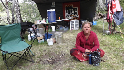 """(David Self Newlin   The Salt Lake Tribune)  Raphael Cordray is one of the activists with Utah Tar Sands Resistance, camping at PR Springs in what they call a permanent """"protest vigil"""" in an effort to stop development of tar sands in the area."""