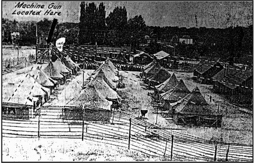 Courtesy of Mike Rose The U.S. Army's Branch Camp No. 4 in Salina, circa July 1945.