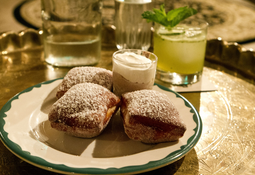 Keith Johnson | The Salt Lake Tribune Blueberry beignets served at The Rest in Salt Lake City.