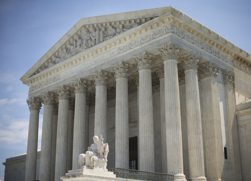 This photo taken June 30, 2014 shows the Supreme Court in Washington. Conservative Republicans claimed victory this week in the Supreme Court ruling on religious freedom and the White House's acceptance that an immigration overhaul won't happen this year. Today's victories could haunt the GOP in two years' time, as the party's presidential nominee looks for much-needed support among women and Hispanics in the 2016 election. (AP Photo/Pablo Martinez Monsivais)