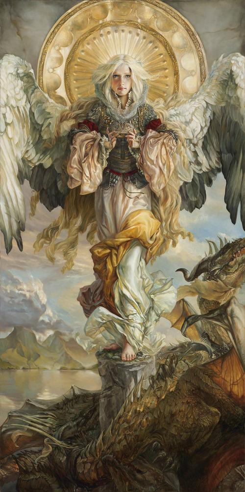 """Heather Theurer's FantasyCon Masterwork titled """"Triumph."""" It's 7.5 x 4 feet.Courtesy     FantasyCon"""