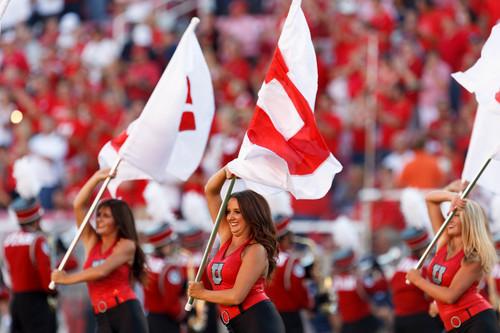 Trent Nelson  |  The Salt Lake Tribune Pre-game festivities as the University of Utah hosts Utah State, college football Thursday, August 29, 2013 at Rice-Eccles Stadium in Salt Lake City.