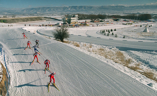 Soldier Hollow Nordic skiing olympic venue.  photo by Al Hartmann. 01/20/2001