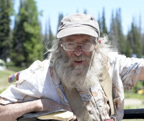 Al Hartmann  |  The Salt Lake Tribune  Robert Calvin Gordon III attends the  Rainbow Family Gathering in the Uinta Mountains 15 miles northeast of Heber.  He has been coming to the gatherings for 34 years.
