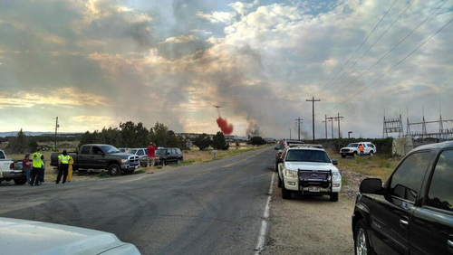 (Courtesy Utah State Parks)  A 3,500-acre wildfire burning north of Vernal forced evacuations Saturday and burned one home.