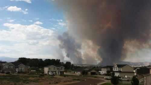 (Courtesy Utah Red Cross)  A family of two lost their home to the Taylor Mountain Road fire, burning north of Vernal since Saturday afternoon.