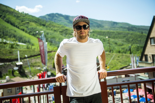 Chris Detrick  |  The Salt Lake Tribune Sage Kotsenburg poses for a portrait at Park City Mountain Resort Tuesday June 3, 2014. Kotsenburg won a gold medal in the Men's Snowboard Slopestyle in Sochi, Russia.
