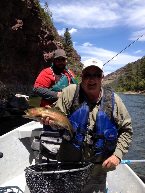 Phil Cox landed this beautiful trout on the Green River. (Courtesy)