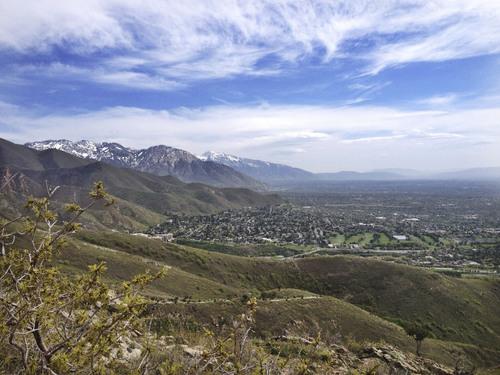 Marissa Lang | Salt Lake Tribune    Living Room hike in Salt Lake City.