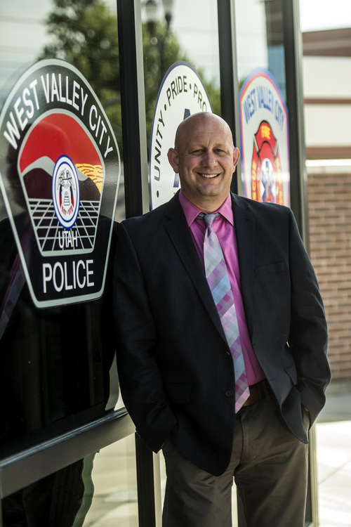 Chris Detrick  |  The Salt Lake Tribune West Valley City Detective Justin Boardman poses for a portrait at West Valley City Police Department Wednesday July 2, 2014. Det. Boardman is helping his department develop a progressive protocol for rape investigations that is more sensitive to victims.