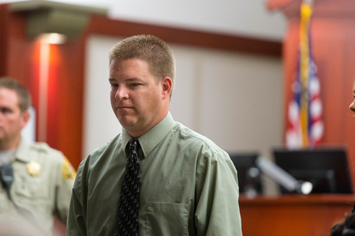 Trent Nelson  |  The Salt Lake Tribune Former West Valley City Detective Shaun Cowley makes his initial court appearance, charged with manslaughter in the death of Danielle Willard, at the Matheson Courthouse in Salt Lake City, Tuesday July 8, 2014.