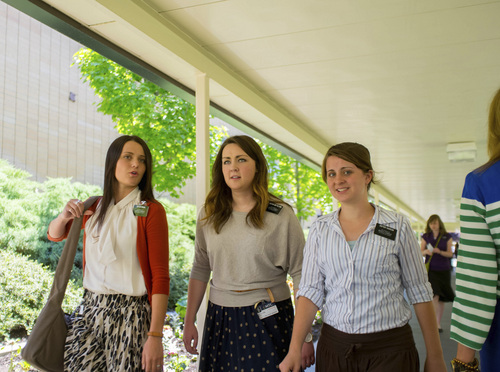 Trent Nelson  |  The Salt Lake Tribune Sister missionaries at the LDS Missionary Training Center in Provo Tuesday June 18, 2013. Since the Utah-based faith lowered the age for women from 21 to 19, it has experienced a dramatic increase in the number of female missionaries.