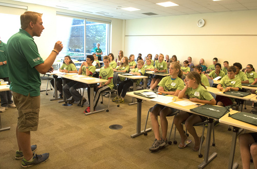 Rick Egan  |  The Salt Lake Tribune  Jared Boley leads a discussion, about personal finance, during a conference taught by Utah County 4-H Teens Reaching Youth, at Fidelity investments, in American Fork, Monday, July 7, 2014