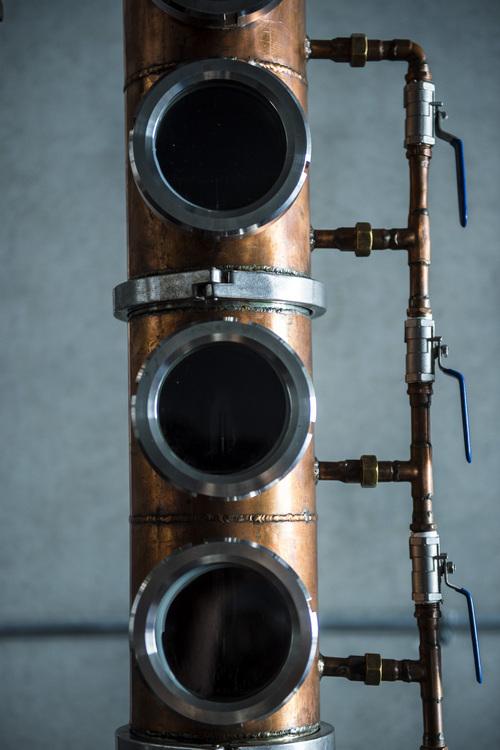 Chris Detrick     The Salt Lake Tribune Jack Rabbit Gin is distilled on a hybrid pot still at Beehive Distilling, 1745 S. Milestone, Wednesday June 25, 2014. Beehive distills Jack Rabbit Gin, which is available to purchase at the State Liquor Stores.