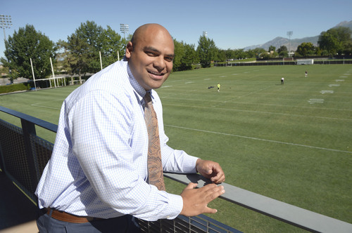 Al Hartmann  |  The Salt Lake Tribune  Fui Vakapuna is a former NFL player who now works in BYU's athletic department helping student athletes adapt from high school to college life, school and athletics.