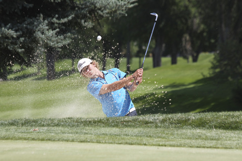 Garrit Johnson | courtesy photo  Austin Banz competes in the Utah State Amateur Round of 16 matches at Ogden Golf and Country.